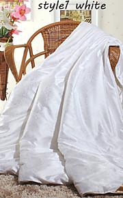 vinter silke täcken vit beige rosa