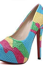 Несколько цветов-Женская обувь-Для праздника / На каждый день / Для вечеринки / ужина-Дерматин-На шпильке-На каблуках / На платформе-