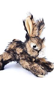 Koirat / Kissat Lelut Plush-lelu Rabbit Textile Ruskea