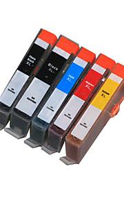 BLOOM®178BK/PGBK/C/M/Y Compatible Ink Cartridge For HP C6300/C5300/C5380/D5400/D5460/C309a/C309c Full Ink(5 color 1 set)