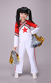Cheerleader Costumes Children's Simple Performance Polyester 2 Pieces Outfits