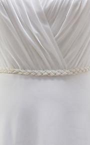 Satin Mariage / Fête/Soirée / Quotidien Ceinture-Billes / Perles Les filles de fleurs 250cm Billes / Perles