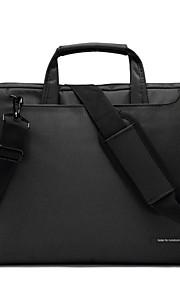 14,1 inch laptop schoudertas waterdicht nylon doek met riem messenger handtas voor macbook / dell / pk, etc