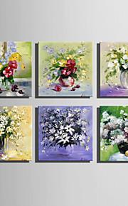 꽃병 순수 손에 미니 사이즈 전자 홈 유화 현대 꽃 틀 장식 그림을 그립니다
