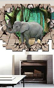 Dieren / Cartoon Wall Stickers 3D Muurstickers,PVC 90*60cm