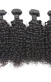 """4kpl paljon 8 """"-30"""" Brasilian neitsyt hiukset kinky kihara luonnon musta hiuksista sotkeutumaton hiusten pidennykset"""