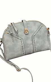 Women PU Baguette Shoulder Bag-Blue / Black