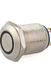 12mm 12v blauwe led kortstondig aan / uit drukknoppen te schakelen voor de auto-auto boot
