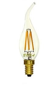 1 stk. NO E14 3W 4 COB 200-300 lm Varm hvit / Kjølig hvit C35 Dimbar / Dekorativ LED-lysestakepærer AC 220-240 V