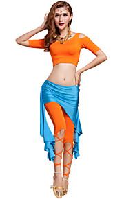 Belly Dance Outfits Women's Training Modal Criss-Cross 2 Pieces Fuchsia / Light Purple / Orange / Purple / Burgundy