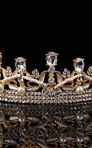 Vintage Baroque Women's Rhinestone / Alloy Headpiece-Wedding / Special Occasion Tiaras 1 Piece