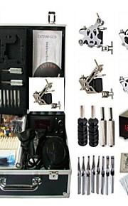 Basekey Tattoo Kit K0104 3Guns Machine With Power Supply Grips Cleaning Brush Needles