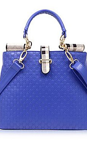Women PU Shell Tote-Blue / Gold / Red / Black