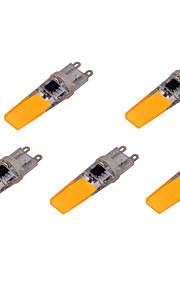 LED à Double Broches Décorative Blanc Chaud / Blanc Froid YWXLight 5 pièces T G9 6W 2 COB 500-700 lm AC 100-240 V
