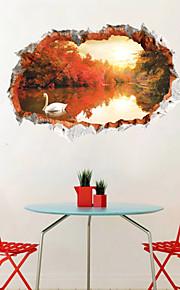 Botanisch / Landschaft / 3D Wand-Sticker Flugzeug-Wand Sticker,PVC 60*90CM