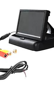 5 inch TFT-LCD auto achteruitkijkspiegel fold monitor.