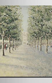 ミニサイズe-ホーム油絵現代のきちんとした木の純粋な手は、フレームレス装飾画を描きます