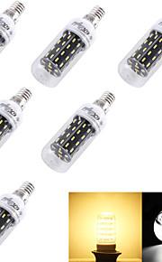 4W E14 / E26/E27 Ampoules Maïs LED T 56 SMD 4014 280 lm Blanc Chaud / Blanc Froid Décorative AC 100-240 / AC 110-130 V 6 pièces