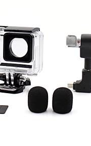 1 Set GoPro välineet Suojakotelo / Mikrofoni Varten Gopro Hero 3 / Gopro Hero 3+ / GoPro Hero 4 All-in-one / Mukava / Pölynkestävä