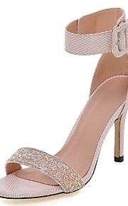 Chaussures Femme-Mariage / Habillé / Soirée & Evénement-Rose / Blanc / Gris-Talon Aiguille-Talons / Bride de Cheville-Sandales-Paillette