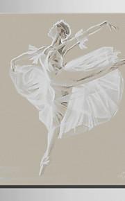 mini e-home oljemaleri moderne dans kvinne ren hånd trekke rammeløs dekormaling