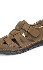 Серо-коричневый-Мужская обувь-Для прогулок / На каждый день / Для занятий спортом-Наппа Leather-Сандалии
