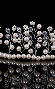 Korean Style Handmade Women's / Flower Girl's Pearl Headpiece-Wedding / Special Occasion Tiaras 1 Piece