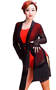 Latin Dance Tops Women's Performance Tulle Tassel(s)