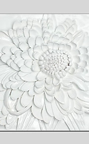3D Flower Style Canvas Material Oil Paintings with Stretched Frame Ready To Hang Size 55*55CM