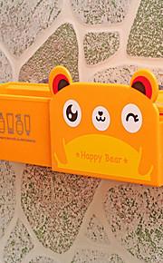 caja de succión de plástico de animales colgando de la pared del cuarto de baño bastidores