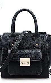 Women PU Weekend Bag Shoulder Bag / Tote-Pink / Yellow / Black