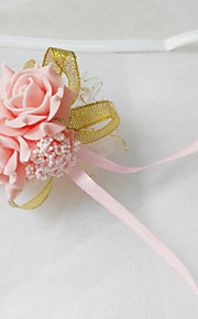 Wedding Flowers Round Roses Wrist Corsages