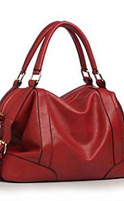 Women PU Sling Bag Shoulder Bag-Brown / Red / Black