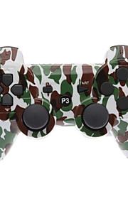 Bruin en Groen Camouflage Dual-Shock Bluetooth V4.0 draadloze controller voor PS3