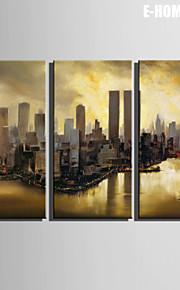 Landskap Canvastryck Tre paneler Redo att hänga,Vertikal