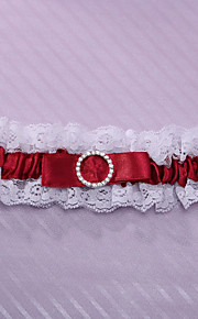 Garter Lace / Polyester Lace Burgundy