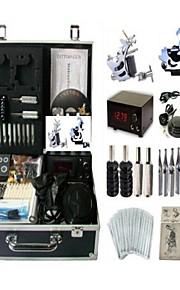 Basekey Tattoo Kit K0062 2Guns Machine With Power Supply Grips Cleaning Brush  Needles