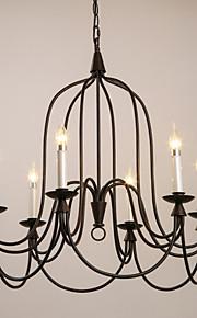 MAX 40W Retro Mini Estilo / Estilo de la vela Pintura Metal Lámparas ColgantesSala de estar / Dormitorio / Habitación de estudio/Oficina