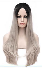 dulce lolita lolita 65 ombre pelucas cosplay de la peluca gris medio