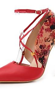 Chaussures Femme-Mariage / Habillé / Soirée & Evénement-Noir / Rouge / Beige-Talon Aiguille-Talons / Bout Pointu / Bride de Cheville-