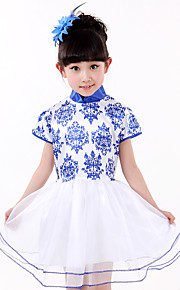 Performance Dresses Children's Performance Spandex / Polyester Tiers 1 Piece Blue
