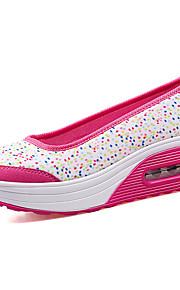 Черный / Фиолетовый / Коралловый-Женская обувь-Для прогулок / На каждый день / Для занятий спортом-Ткань-На платформе-На платформе / С