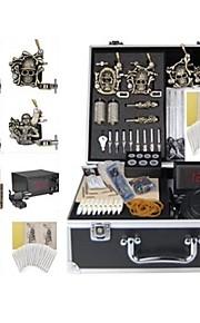 Basekey Tattoo Kit K0184 4Guns Machine With Power Supply Grips Cleaning Brush  Needles