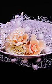 Women's Imitation Pearl / Flax Headpiece-Wedding / Special Occasion / Casual / Outdoor Fascinators 1 Piece