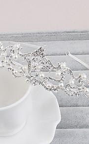結婚式 / パーティー / カジュアル / オフィス / 屋外 成人用 真珠 / ラインストーン かぶと ティアラ 1個