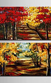 Landschap / Botanisch Canvas Afdrukken Twee panelen Klaar te hangen,Verticaal