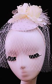 Women's Feather / Rhinestone / Net Headpiece-Wedding / Special Occasion / Casual / Outdoor Fascinators 1 Piece