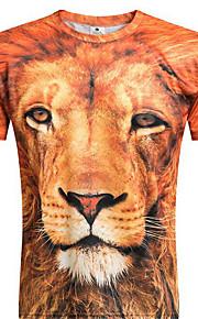 Menn Kortermet T-skjorte Polyester Fritid Trykk