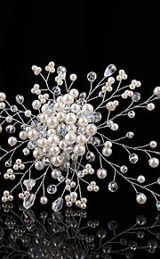 結婚式 / パーティー 成人用 / フラワーガール 真珠 / ラインストーン かぶと コーム 1個
