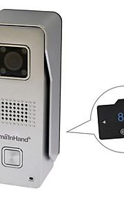 smainhand 720p hd metaal openlucht wifi deurbel video deurtelefoon met 8gb sd-kaart binnen